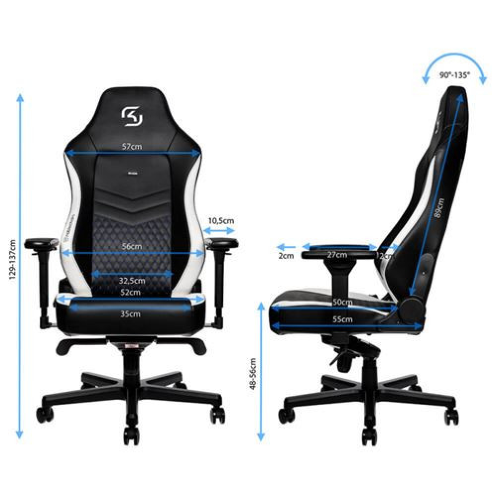 Fauteuil Noblechairs Hero team SK Gaming Edition (NoirBlanc)2