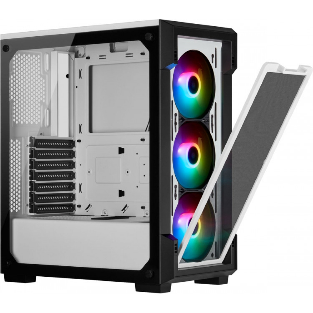 CORSAIR iCUE 220T RGB Tempered ATX Blanc