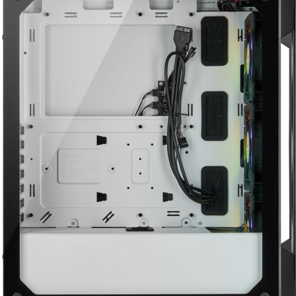CORSAIR iCUE 220T RGB Tempered ATX Blanc1