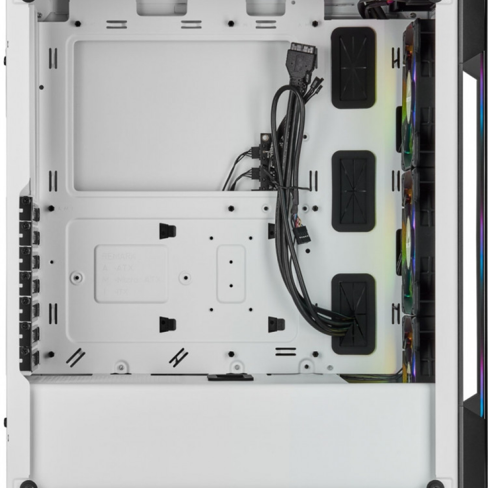CORSAIR iCUE 220T RGB Tempered ATX Blanc2