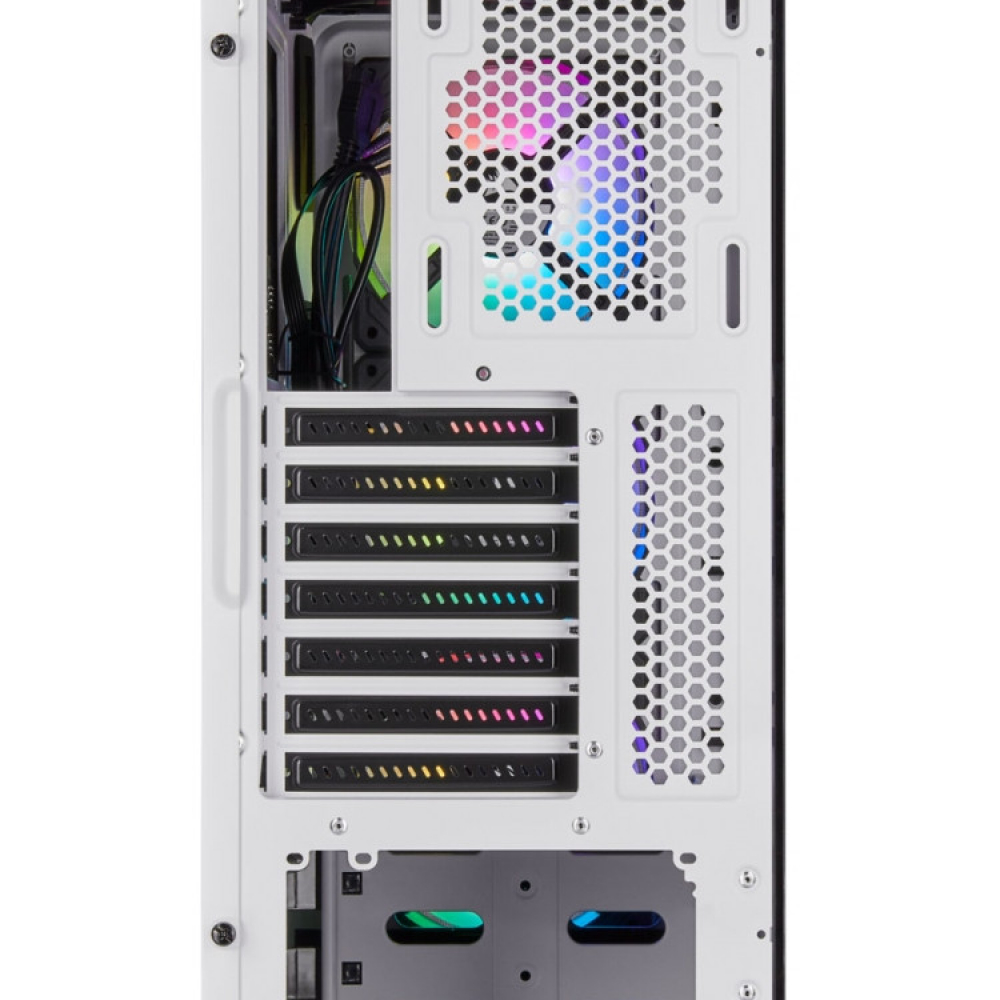CORSAIR iCUE 220T RGB Tempered ATX Blanc4