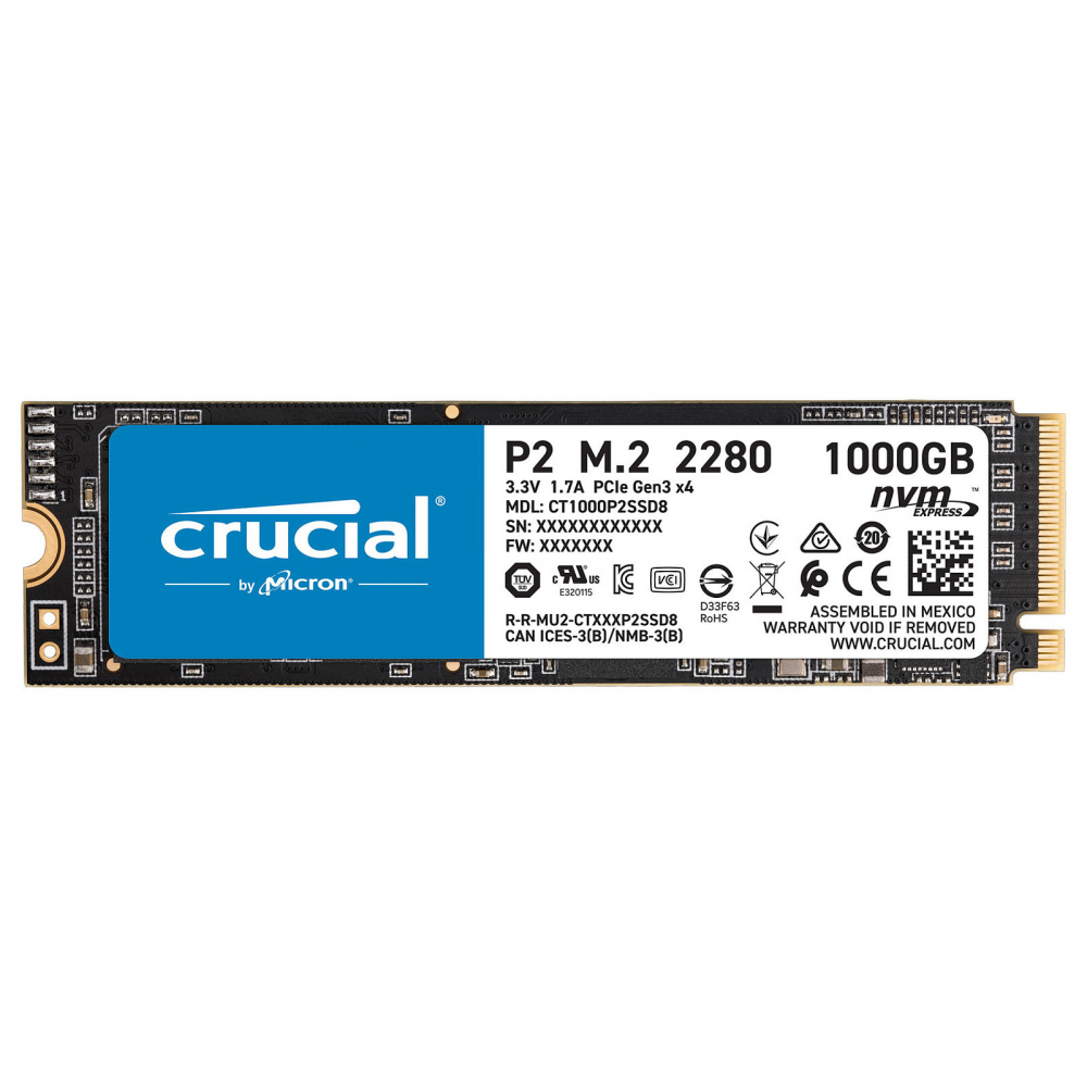 CRUCIAL P2 M.2 NVME 1 To